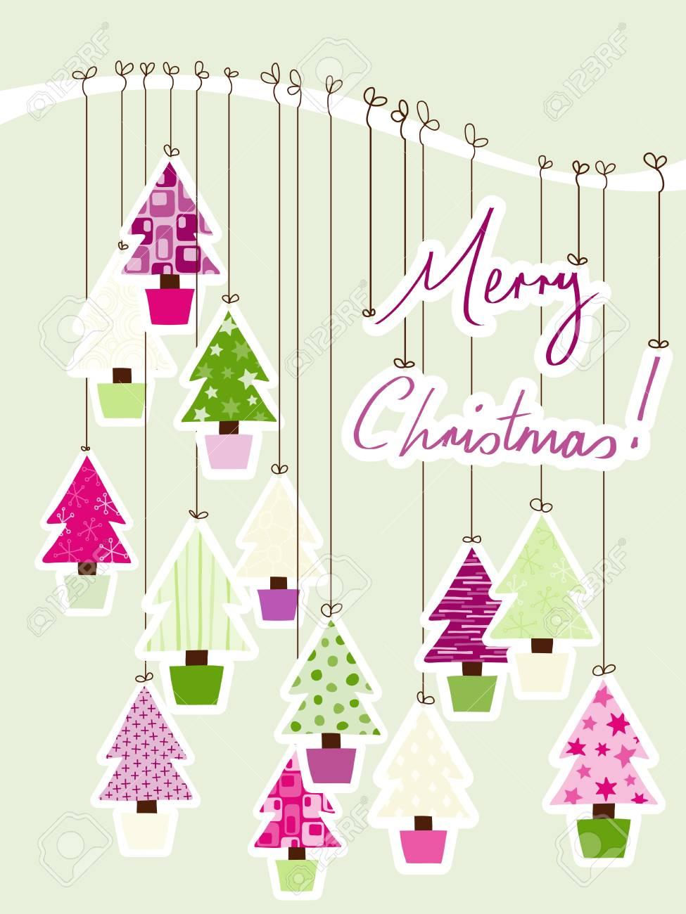 手書きメリー クリスマス サイン装飾クリスマス ツリーで分岐に関連付けられています