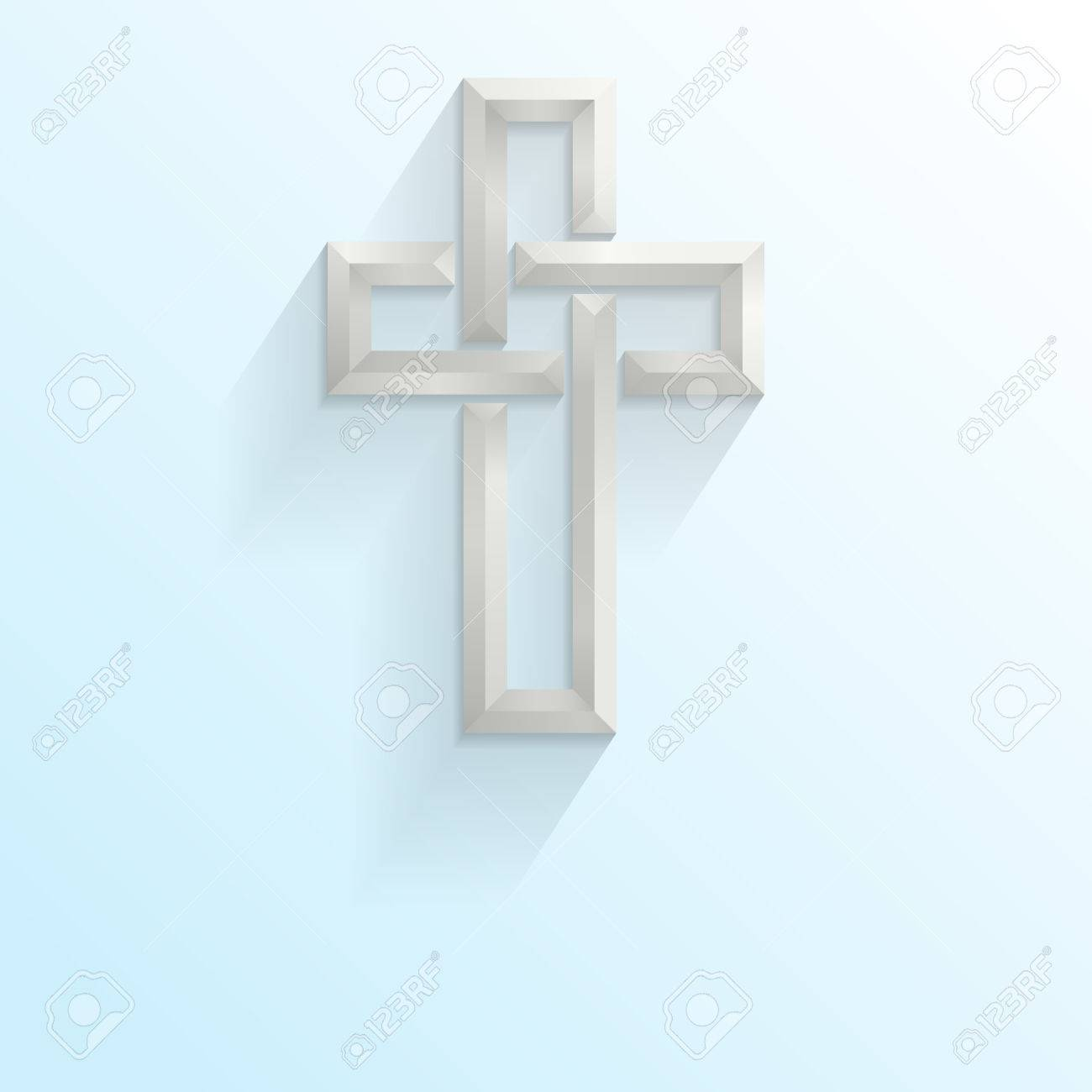 3d Celtic style cross on a blue gradient background with space for your text Stock Vector - 27526000