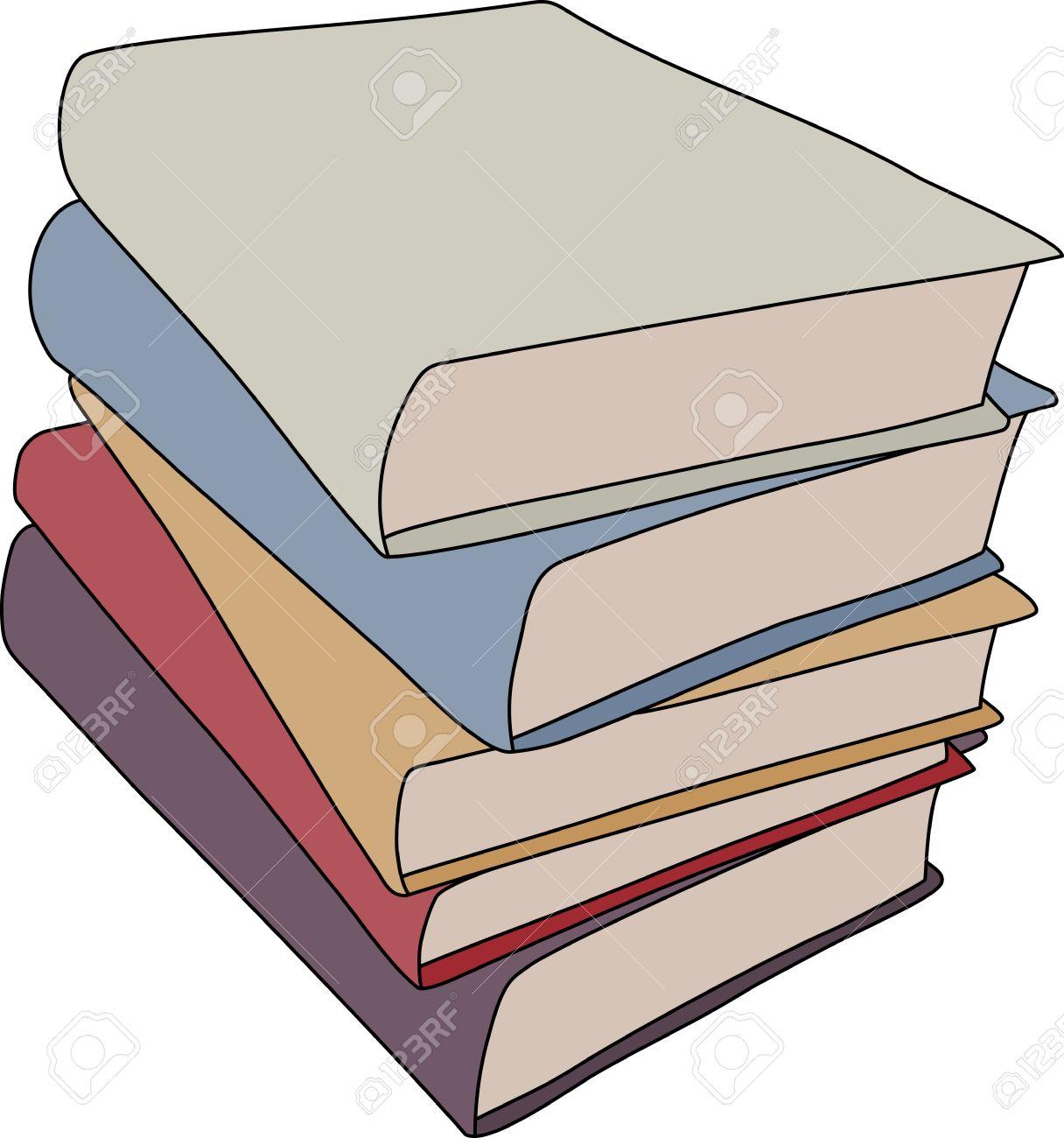 Un Dessin De Style De Bande Dessinee Simple D Une Pile De Livres Ce Fichier Est Vectorielle