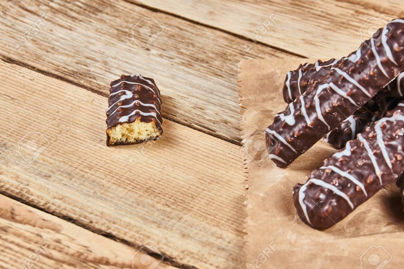 One Broken Cookie And Long Sticks Shortbread Cookies In Dark