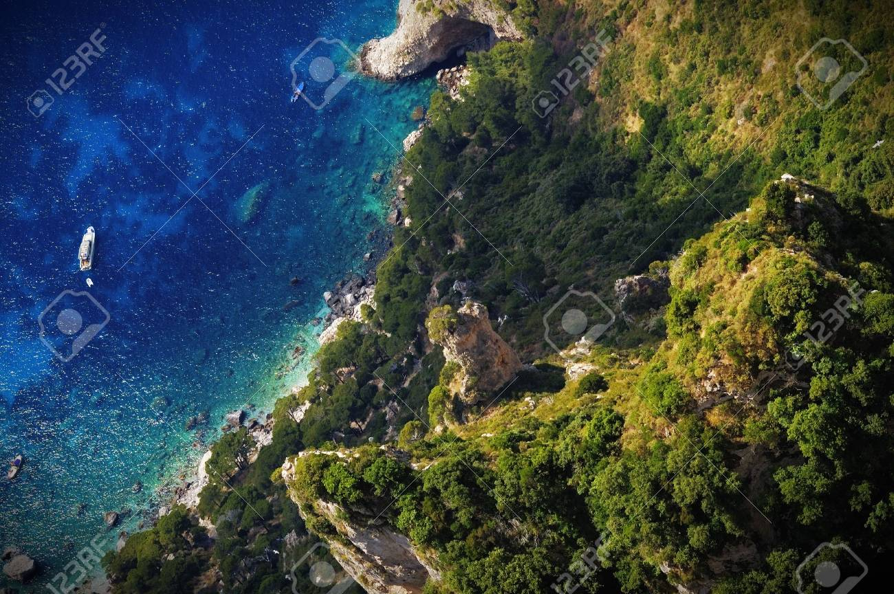 Overlooking a beach in Capri Stock Photo - 2517288