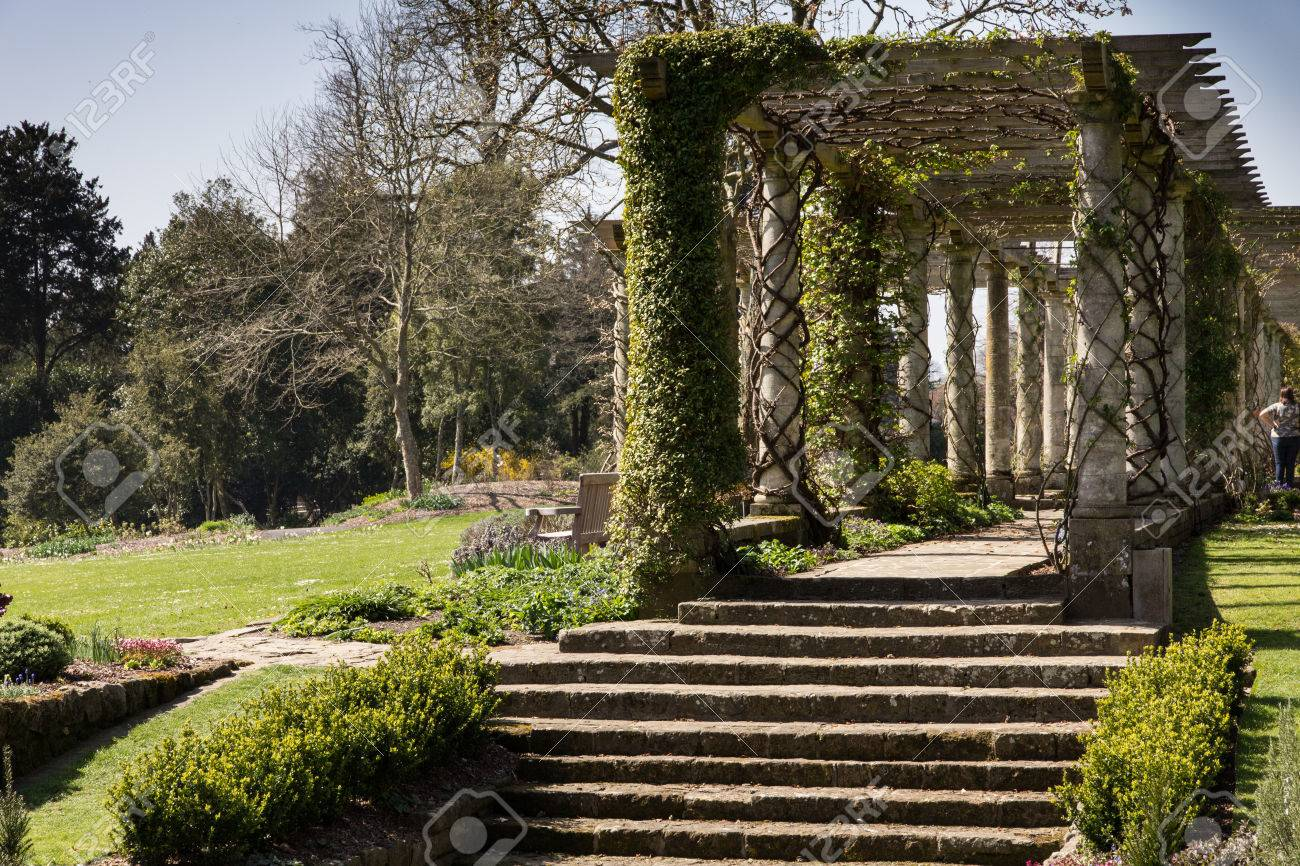 Pergola At West Dean Gardens Stock Photo, Picture And Royalty Free ...