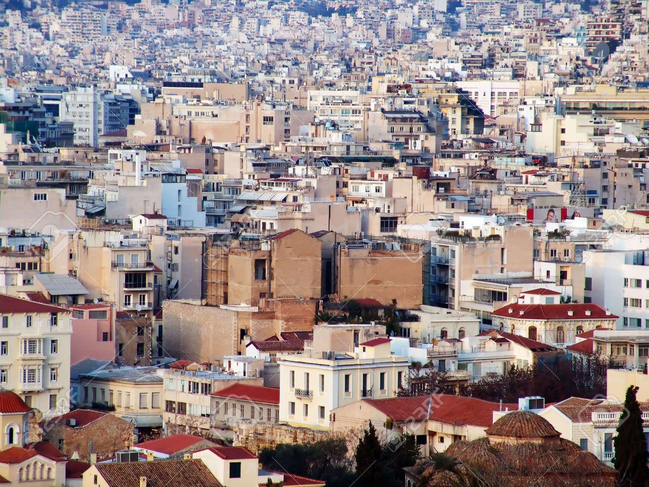 A high view of the Athens city in Greece Stock Photo - 1834572
