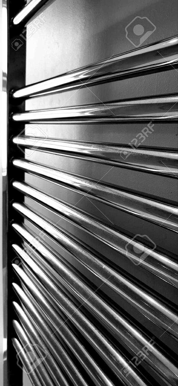 Towel Rail Chrome Bathroom Radiator Black And White Stock Photo Picture And Royalty Free Image Image 115467017