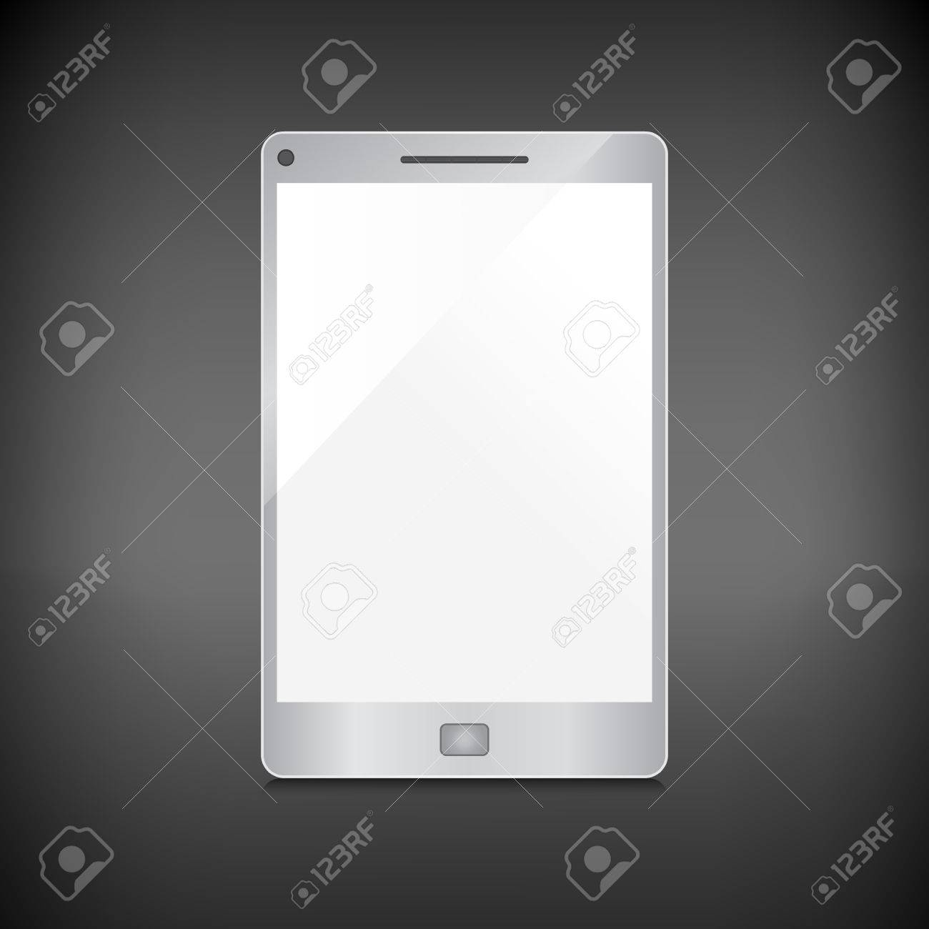 Realistic smartphone with blank screen isolated on dark background Stock Vector - 25129937