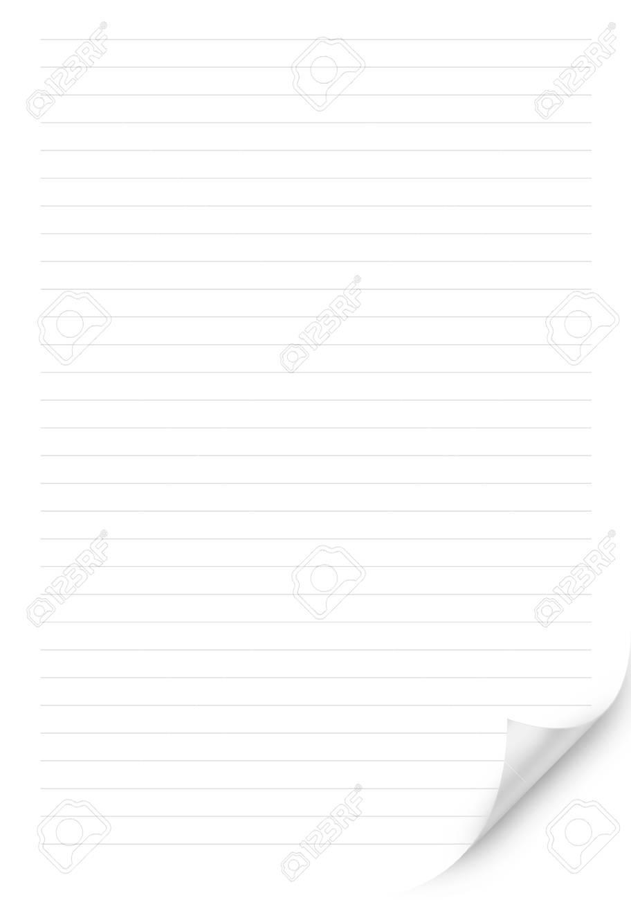 Weiße Linie Blatt Papier Hintergrund Oder Strukturierten Lizenzfreie ...