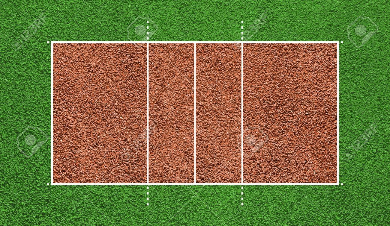 Cancha De Volleyball Top Campo De Visión Fondo De La Tarjeta
