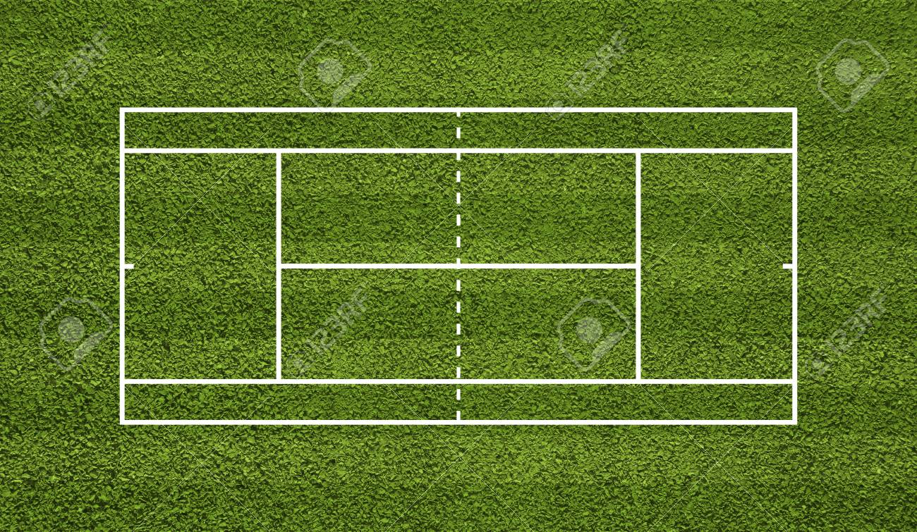 Tennis Court Top View Field Green Grass Stock Photo Picture And