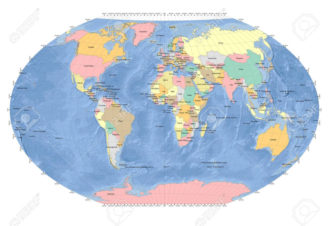 World map sphere countries ocean background gray grids stock world map sphere countries ocean background gray grids stock photo 50871088 gumiabroncs Image collections