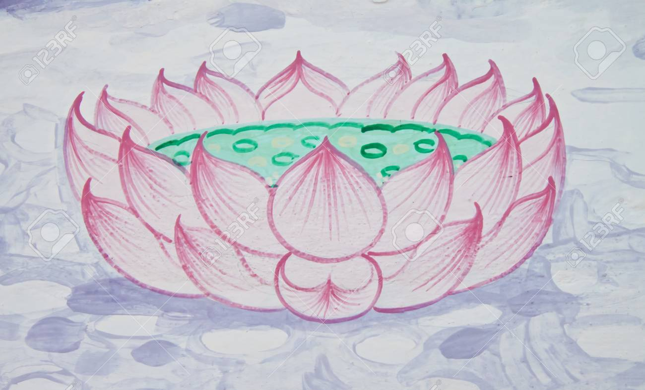 The Drawings Of Lotus Flowers Stock Photo Picture And Royalty Free