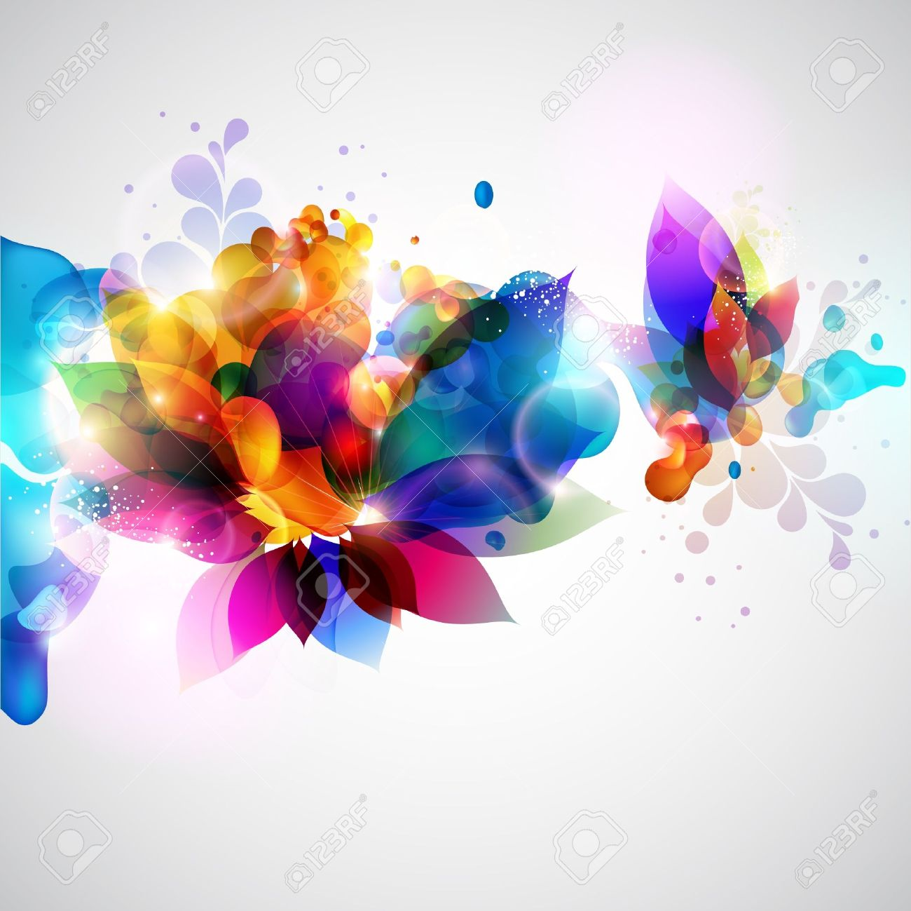 Floral Abstract Background Royalty Free Cliparts, Vectors, And ...