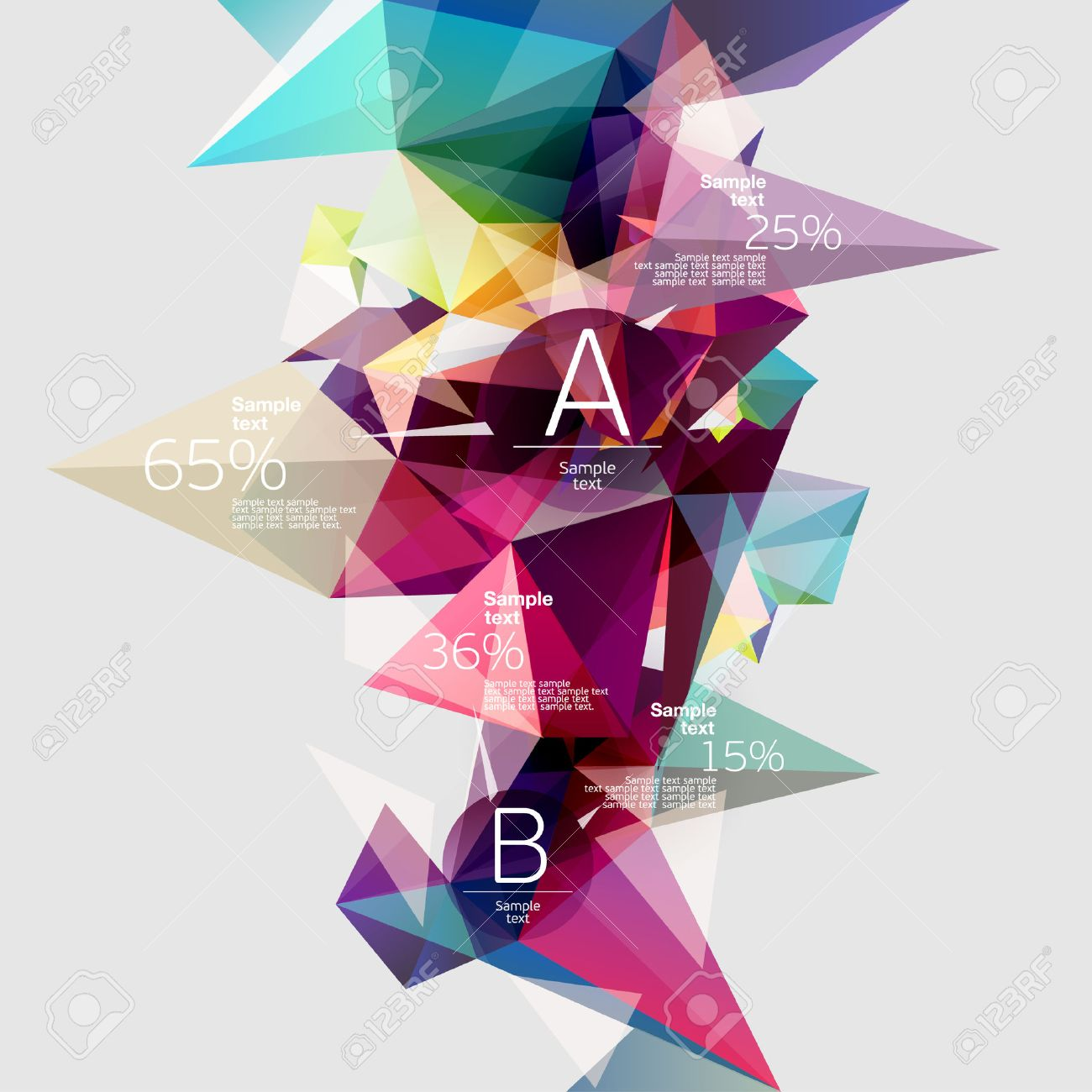 Infographics with abstract background Stock Vector - 23284981