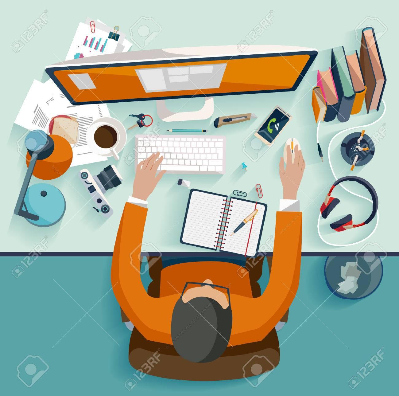 Workplace concept. Flat design. - 32381808