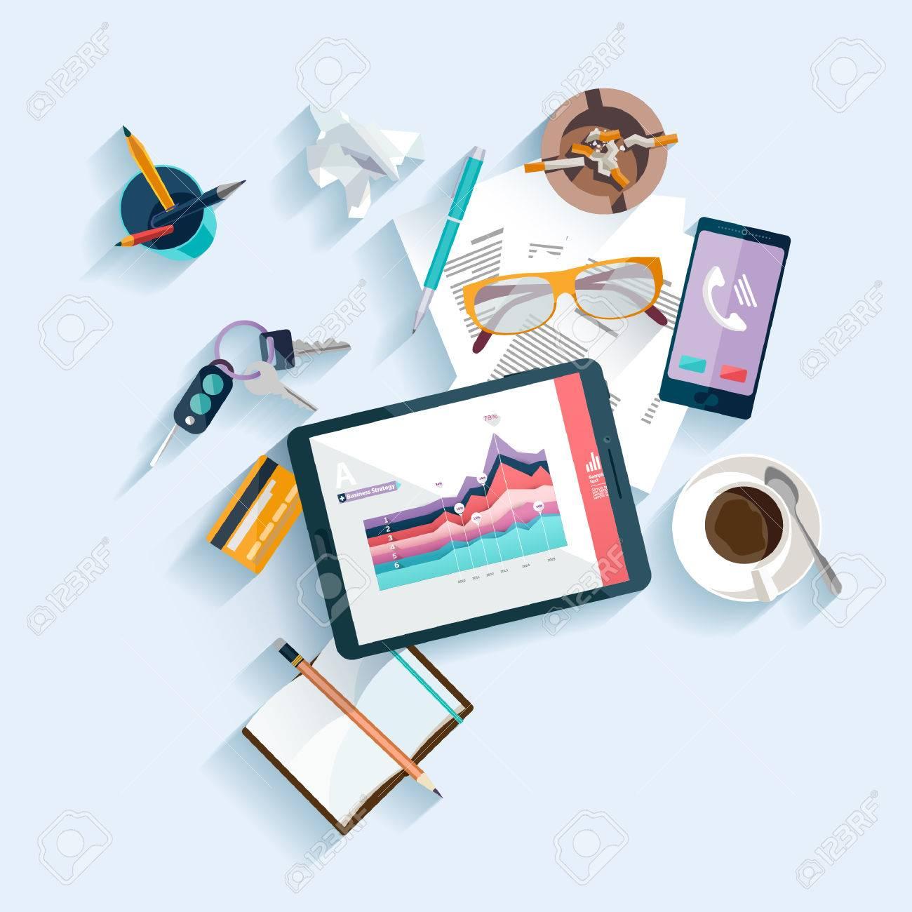 Workplace concept. Flat design. - 37520799