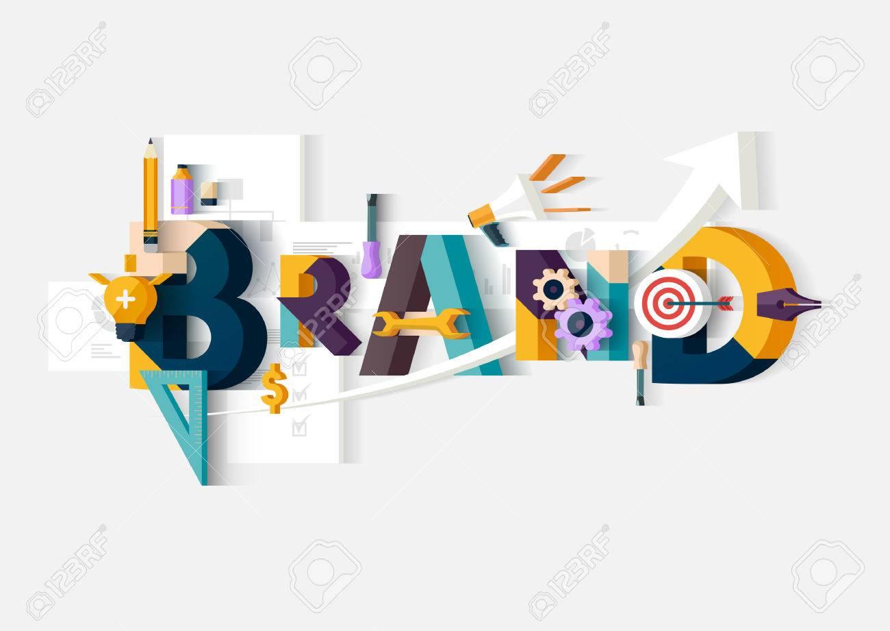 Brand word. Concept illustration. Stock Vector - 47833020
