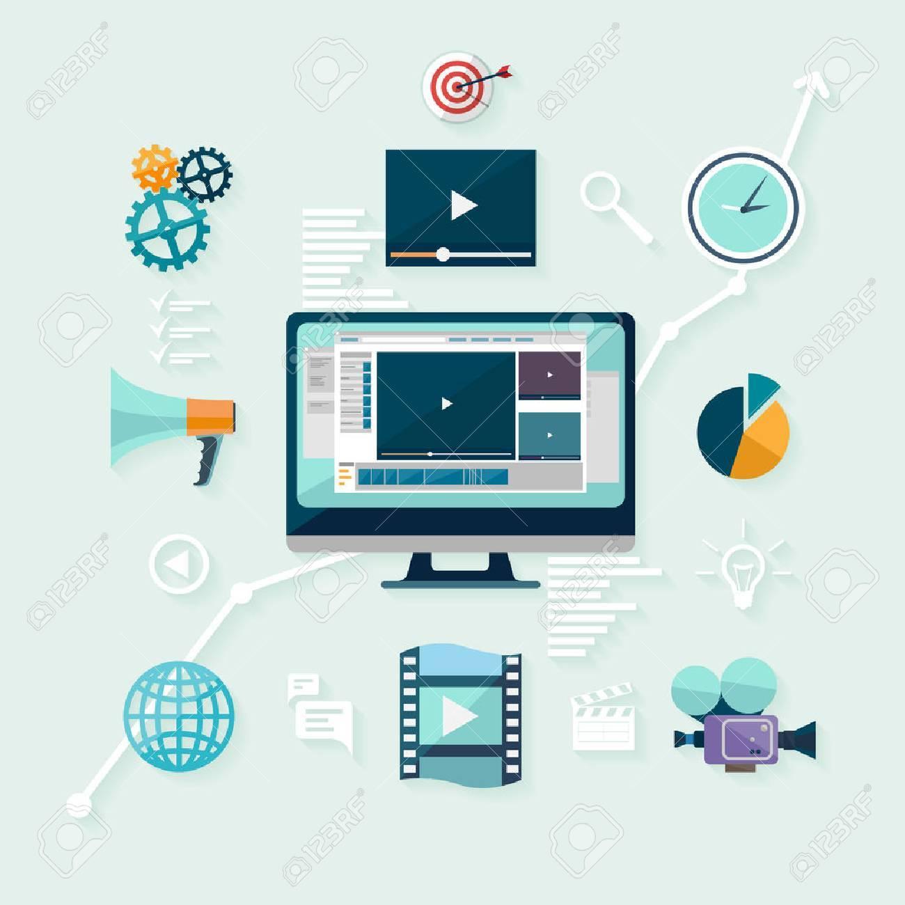 Digital marketing. Flat design. - 47833058