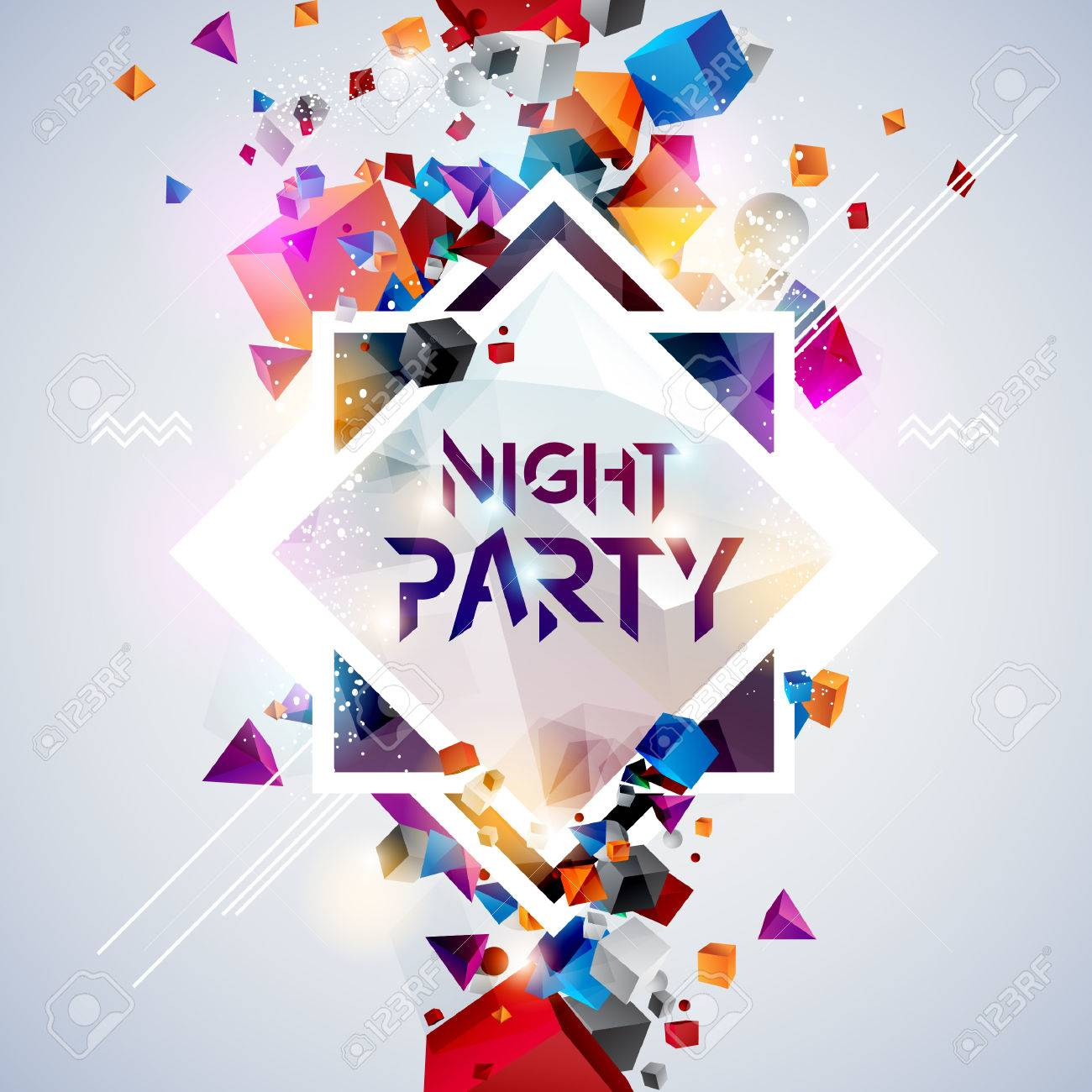 Abstract background for party poster - 48629861