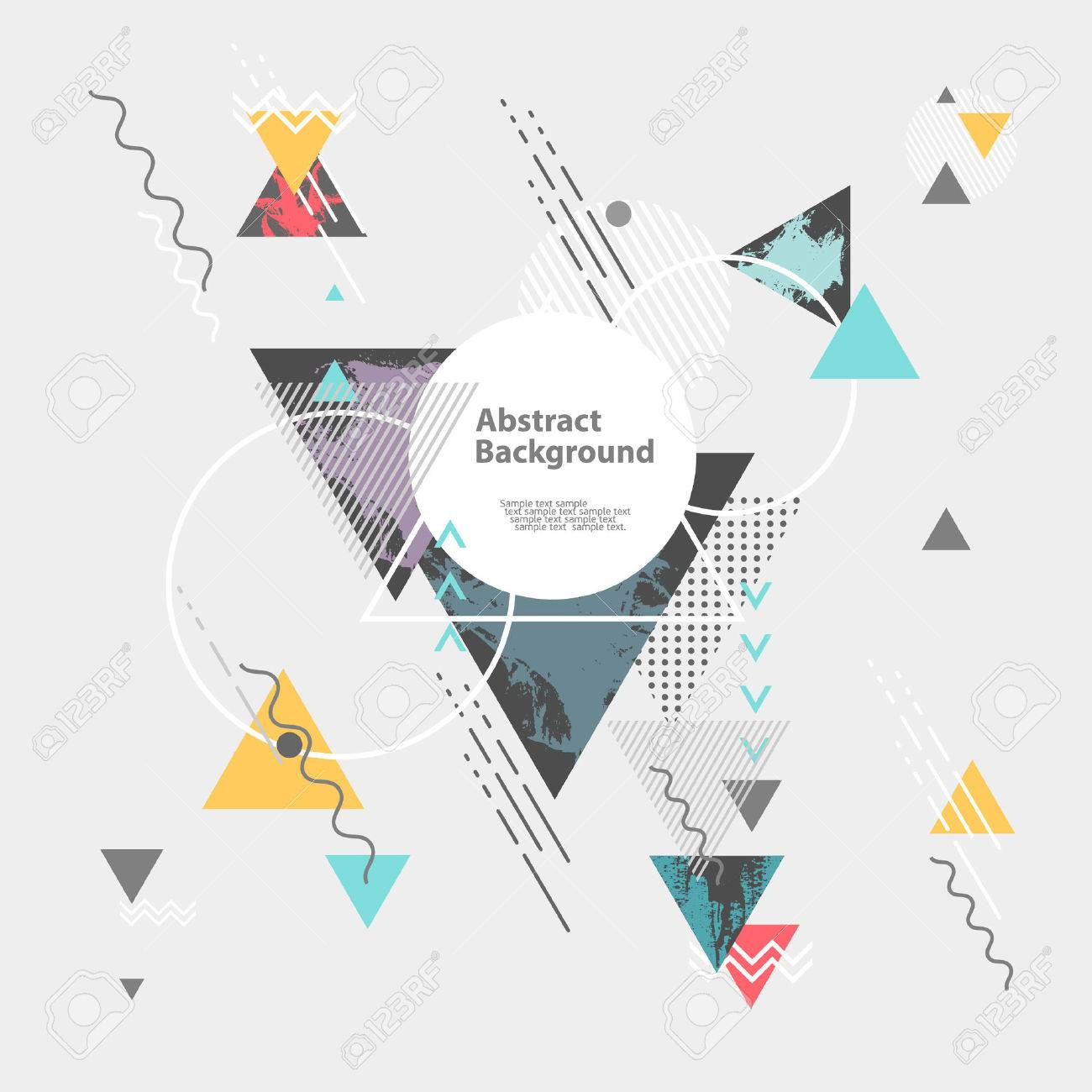 Abstract modern geometric background Stock Vector - 48631353