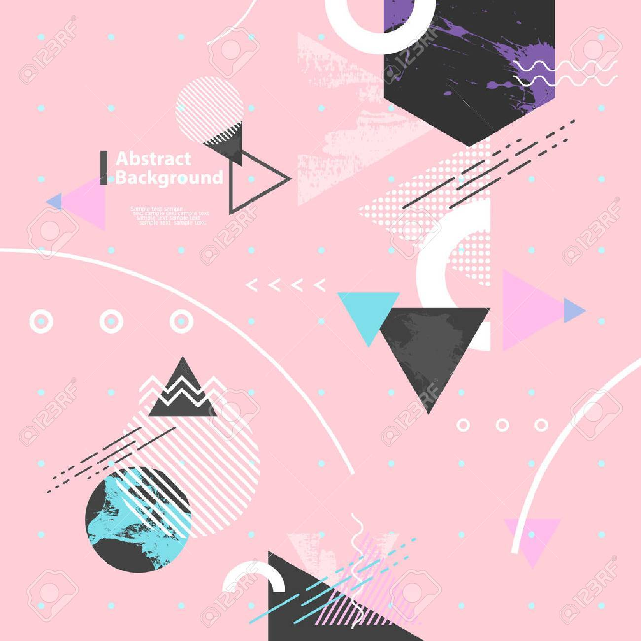 Abstract modern geometric background - 48825434