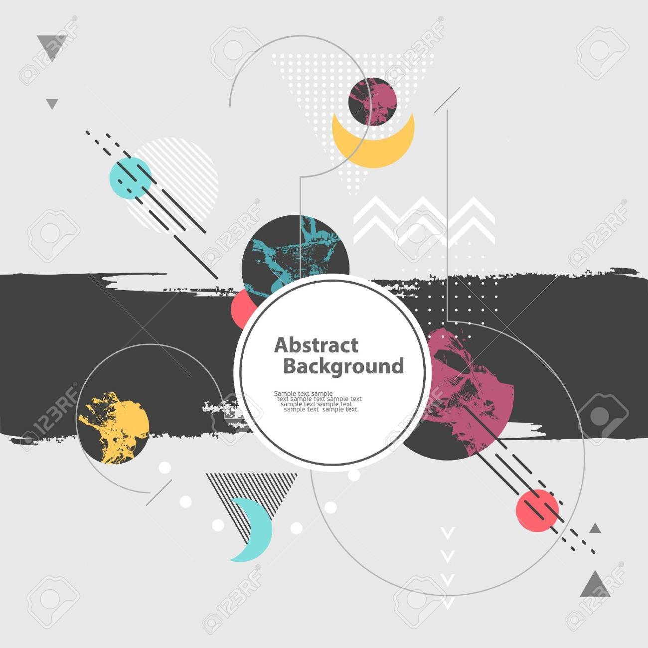 Abstract modern geometric background - 48825448