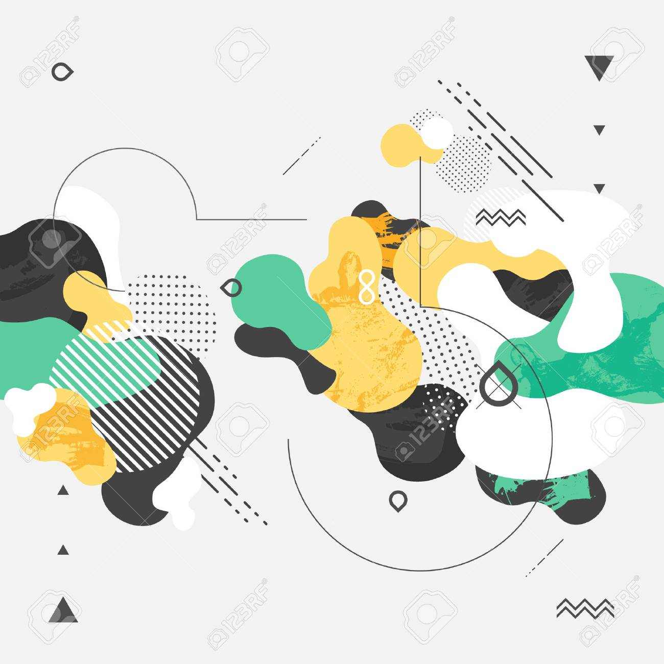 Abstract modern geometric background - 48825562