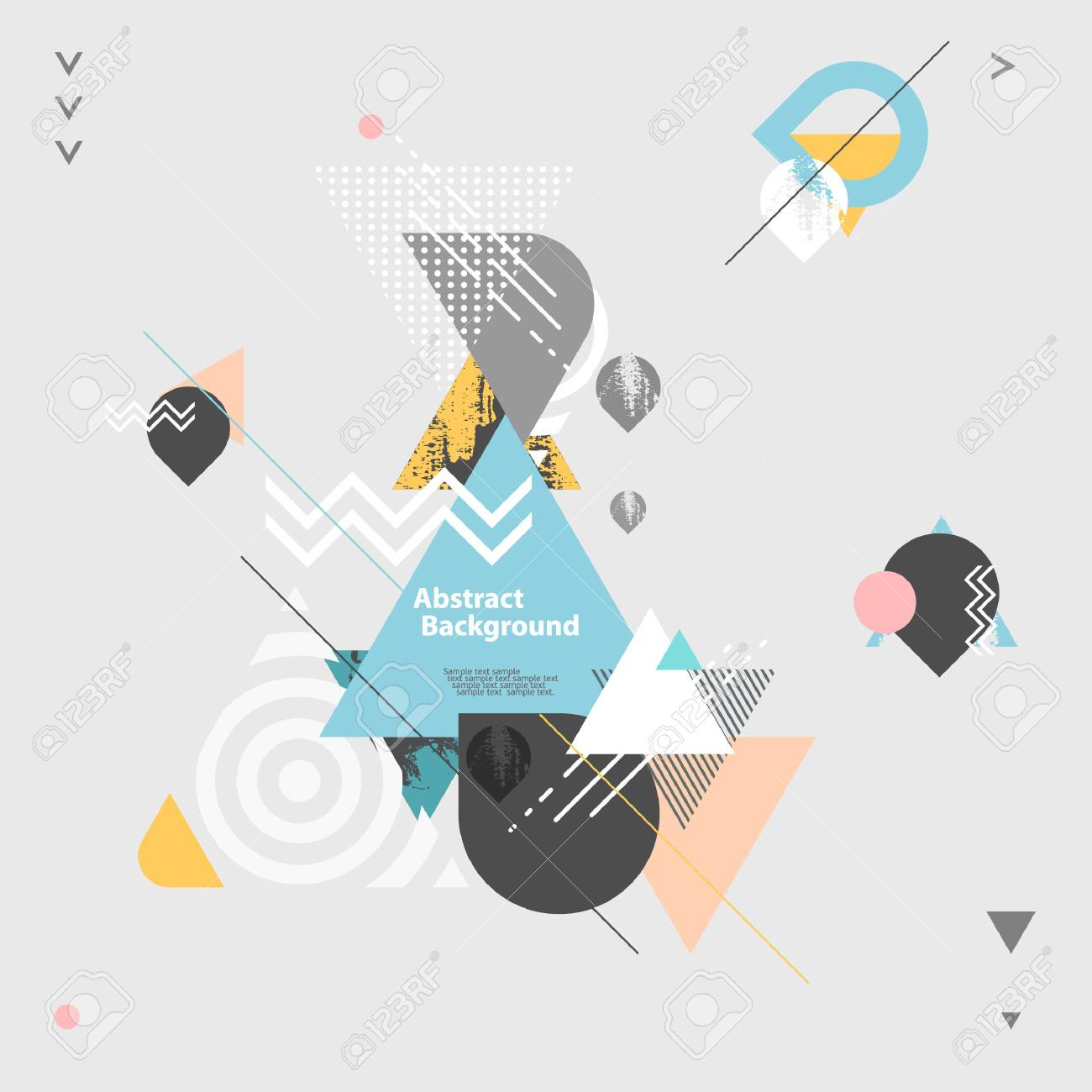 Abstract modern geometric background - 48846668