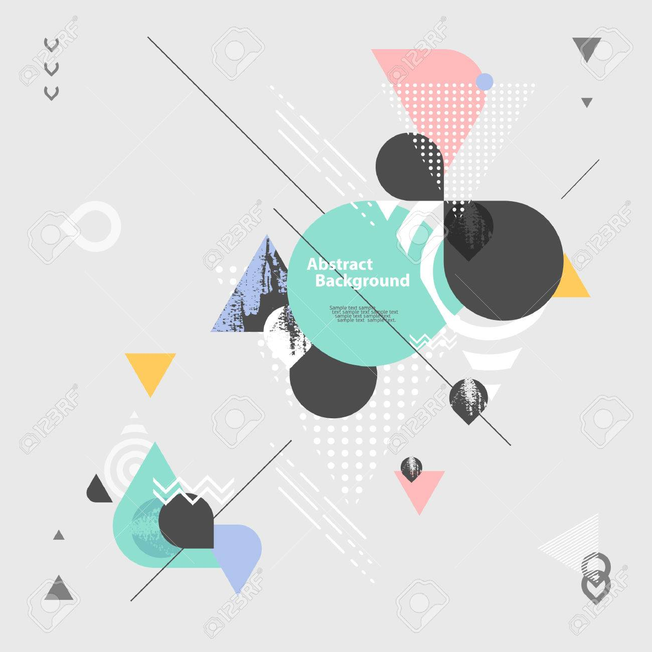 Abstract modern geometric background - 48846726