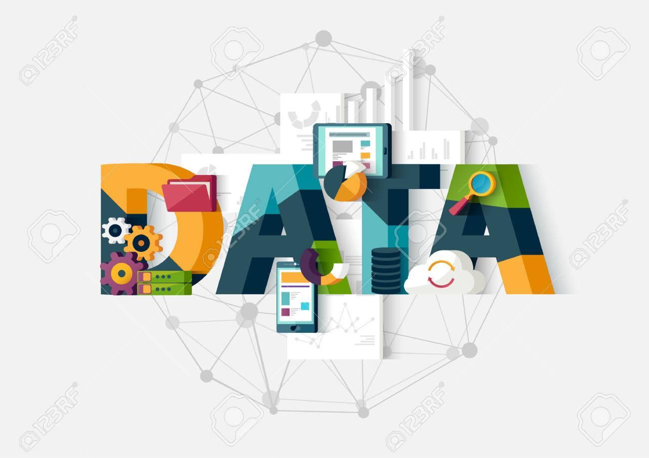 Data analytics. Flat design. - 50000933