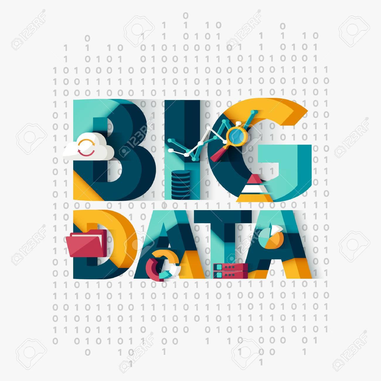 Big data concept. Typographic poster. - 51375904