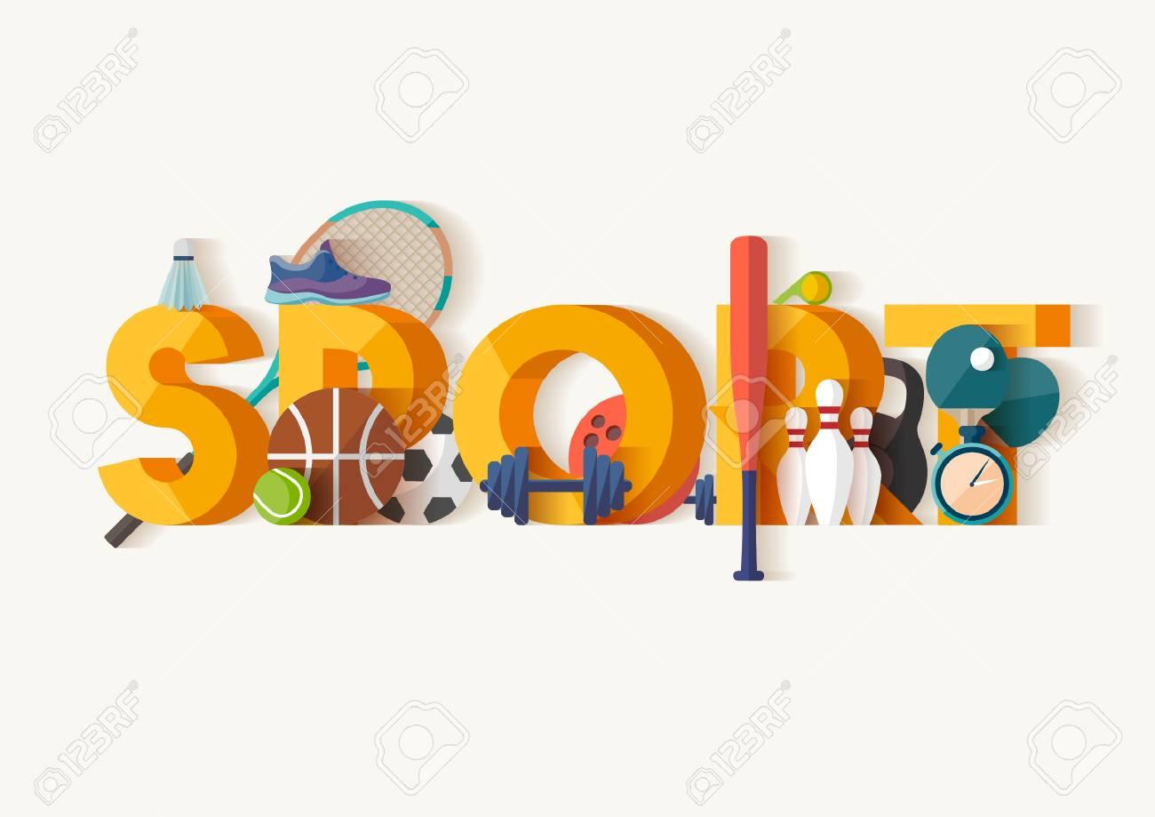 Sport concept.Typographic poster. - 53447478