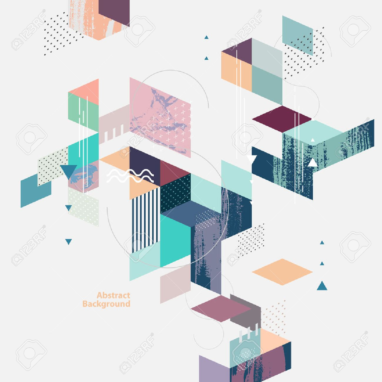 Abstract modern geometric background - 53542261
