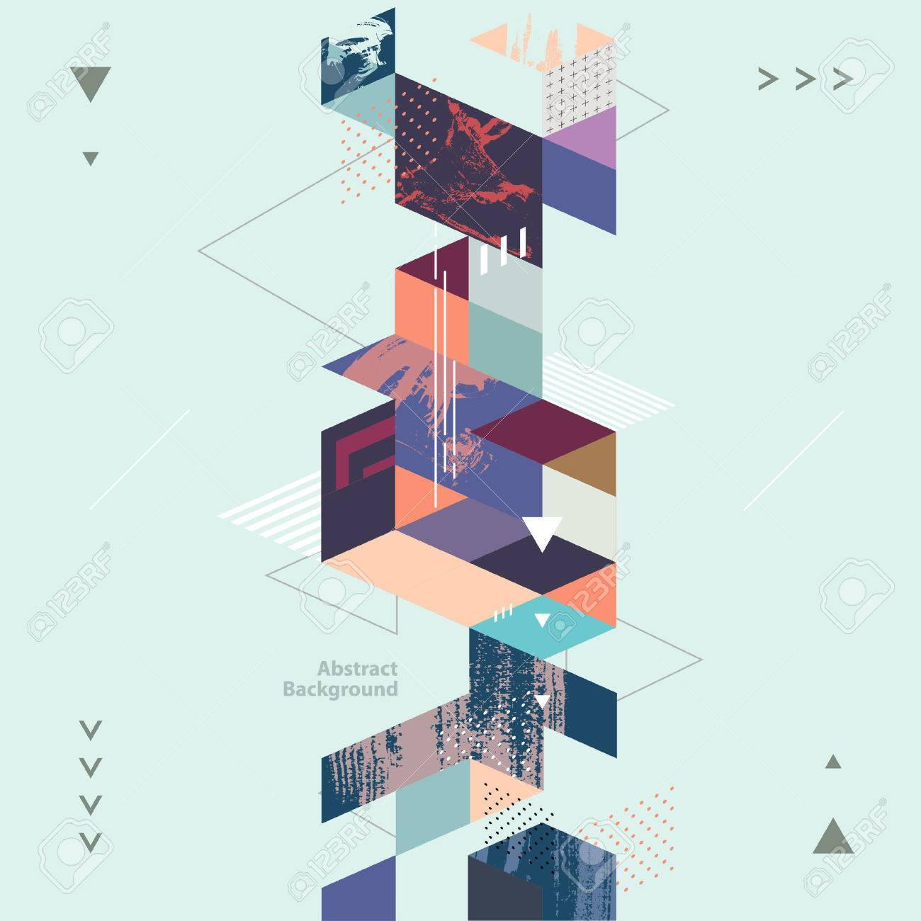 Abstract modern geometric background - 53465265