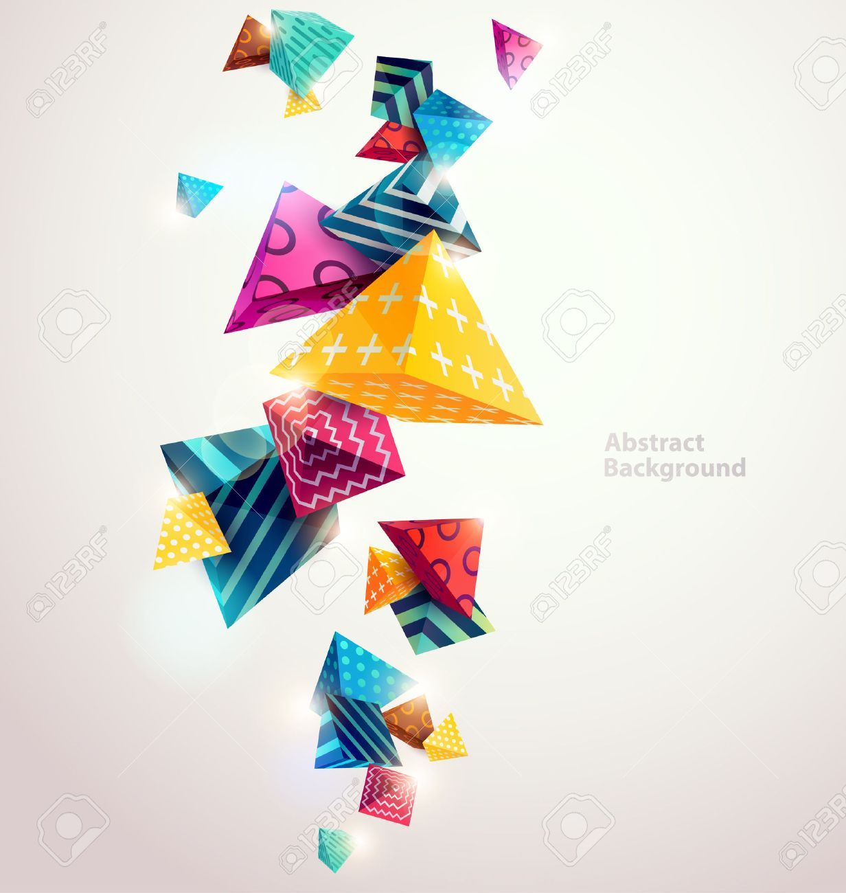 Abstract colorful background with geometric elements - 54352798