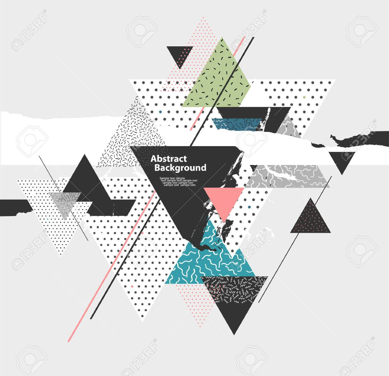 Abstract background with geometric elements - 54352807