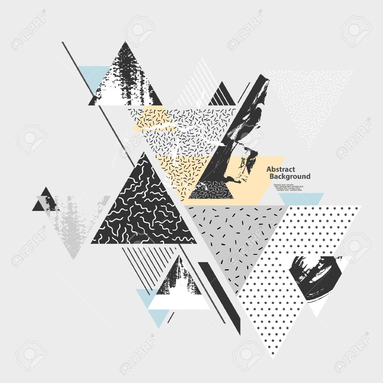 Abstract background with geometric elements - 54352814