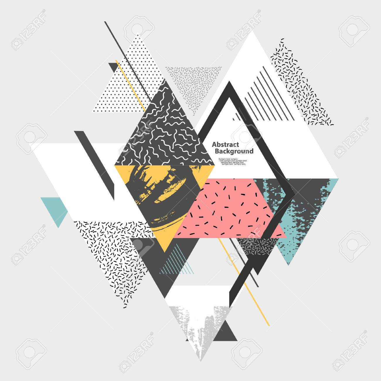 Abstract art background with geometric elements - 54352914