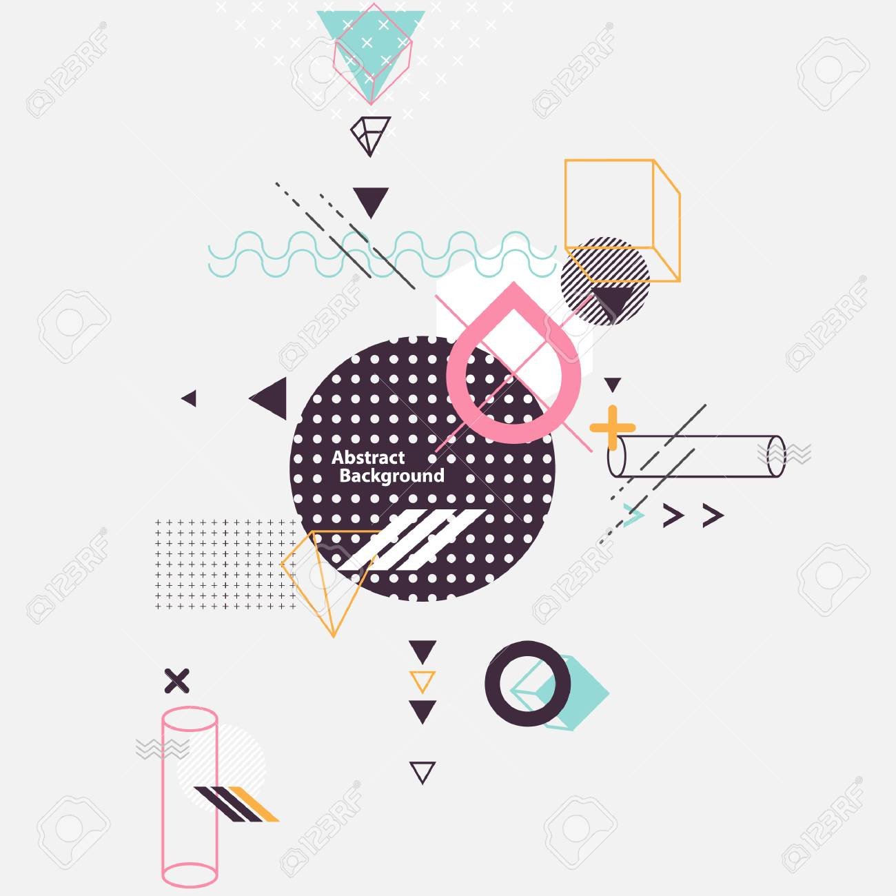 Abstract composition of geometric elements - 56937921