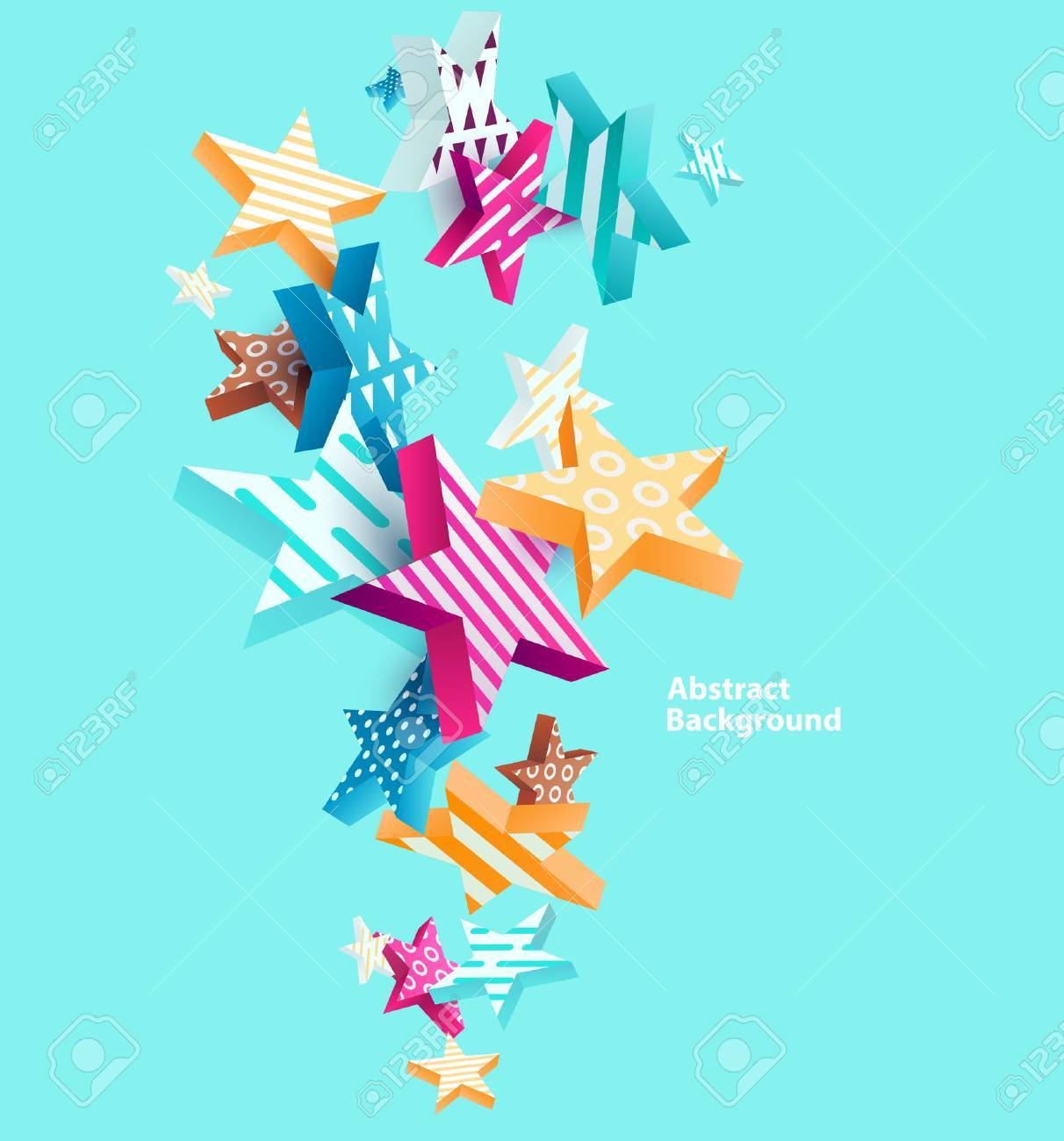 Abstract colorful background with stars - 57569722