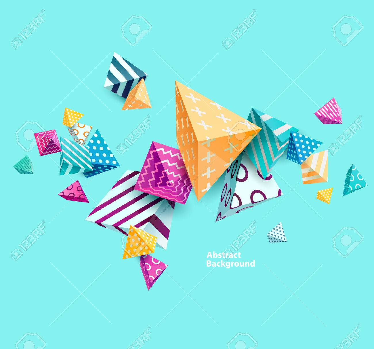 Abstract colorful background with geometric elements - 57569723