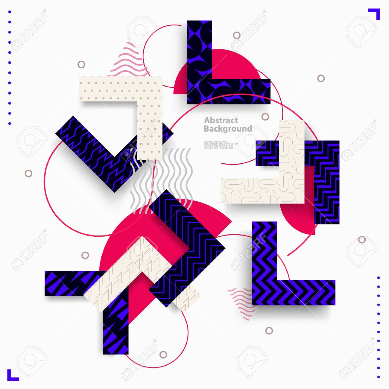 Abstract geometric composition - 79398447