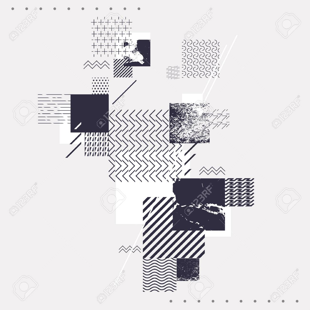 Composition of texture squares - 81871464