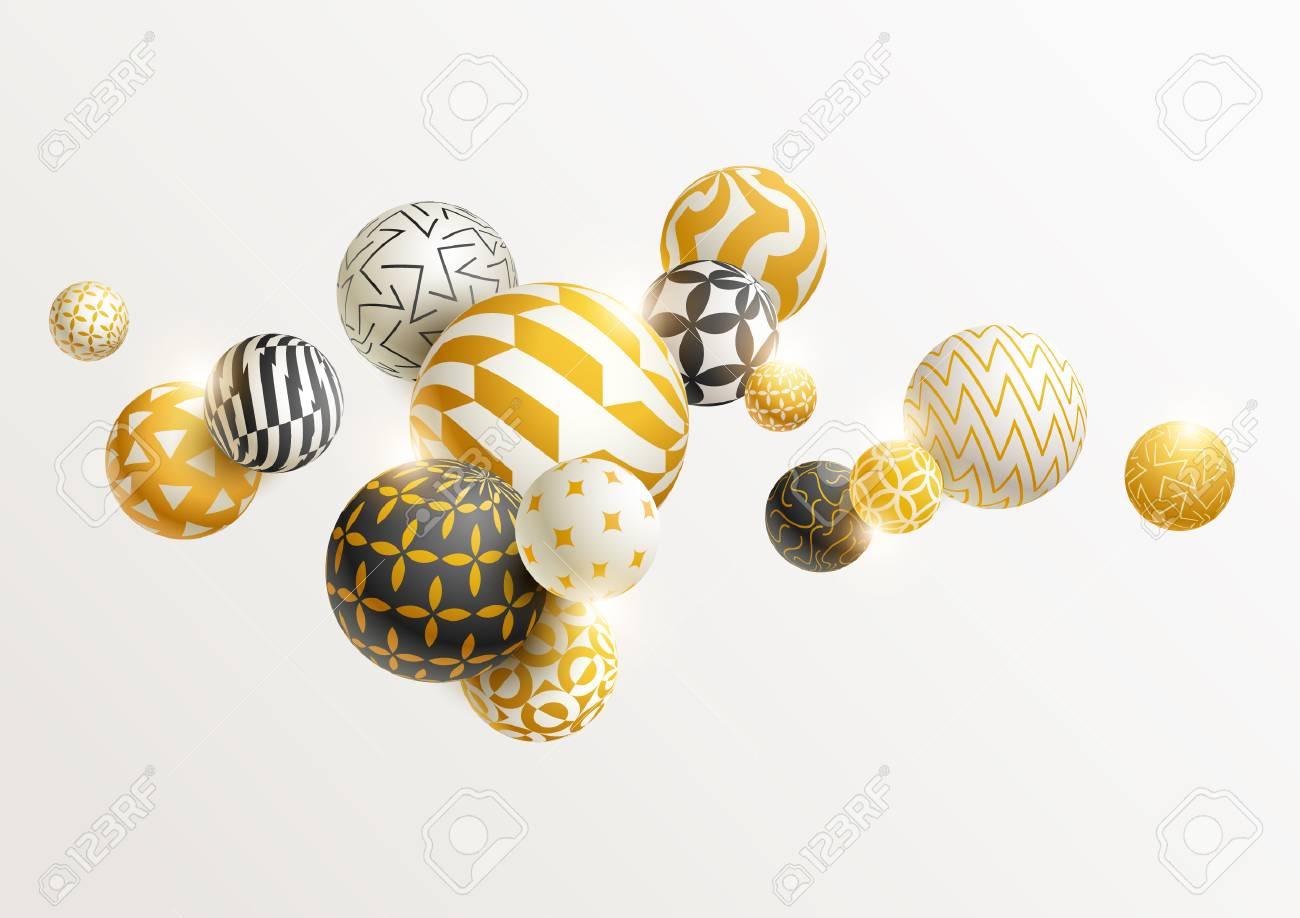 Golden decorative balls. - 84490264