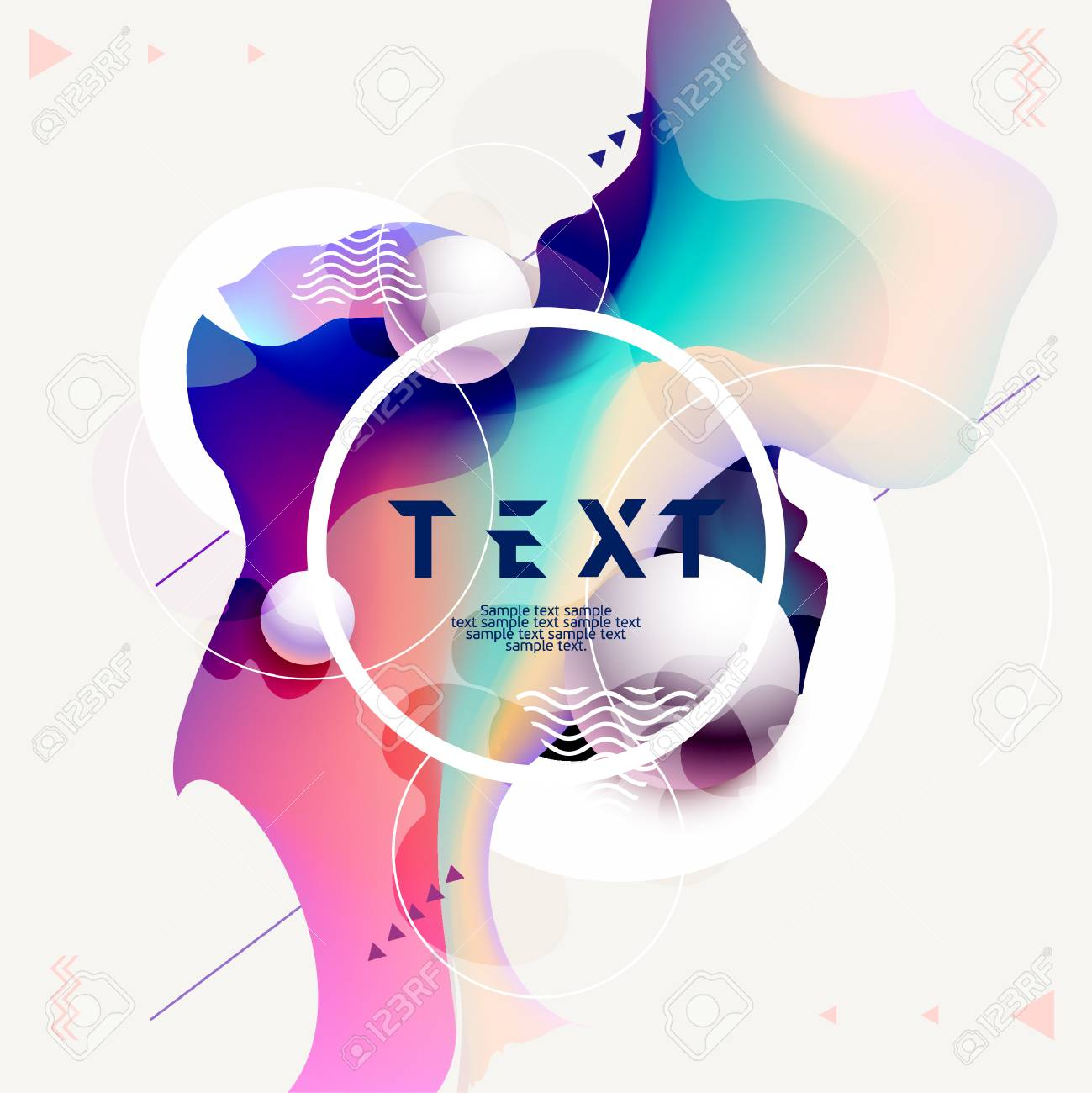 Fluid Poster Design Abstract Color Template