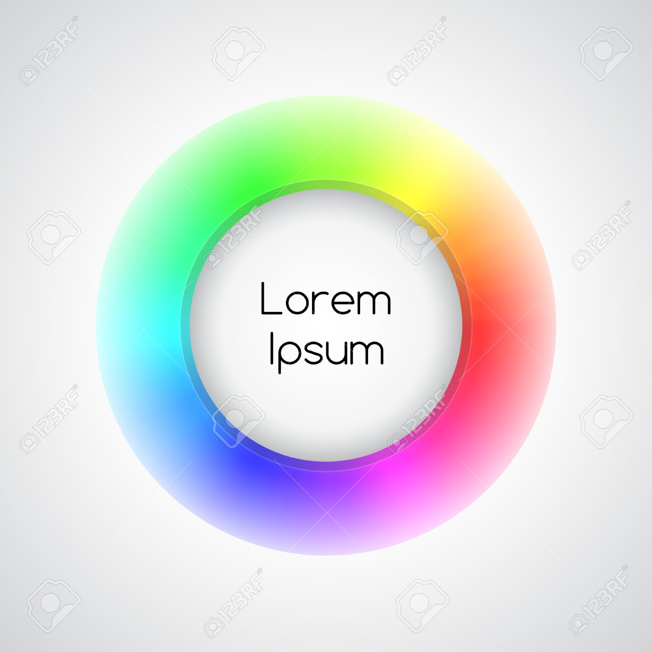3d rainbow icon Stock Vector - 18219502