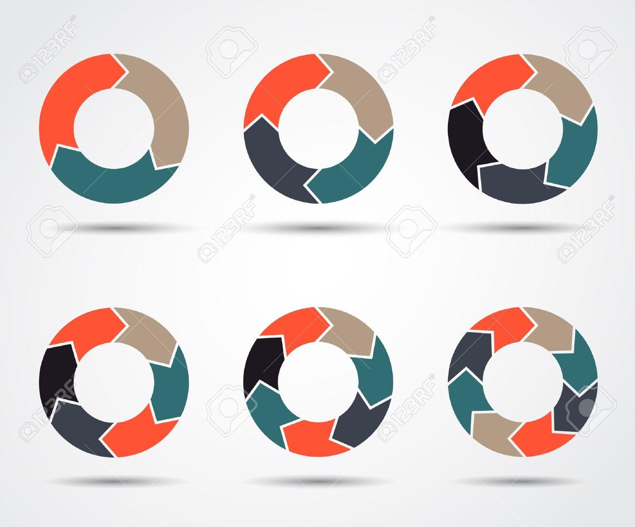Template for your business presentation  circle arrows set Stock Vector - 20112082