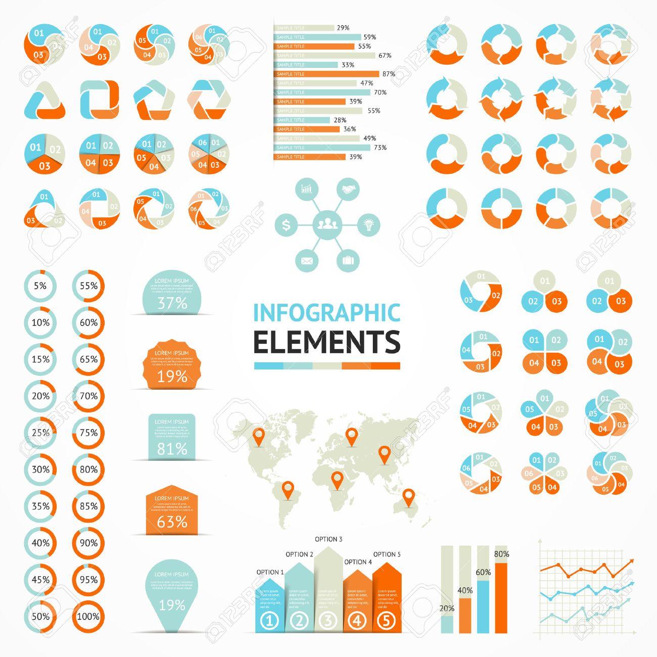 Vector Infographic Elements Set Templates For Diagram Graph – Graph Chart Templates