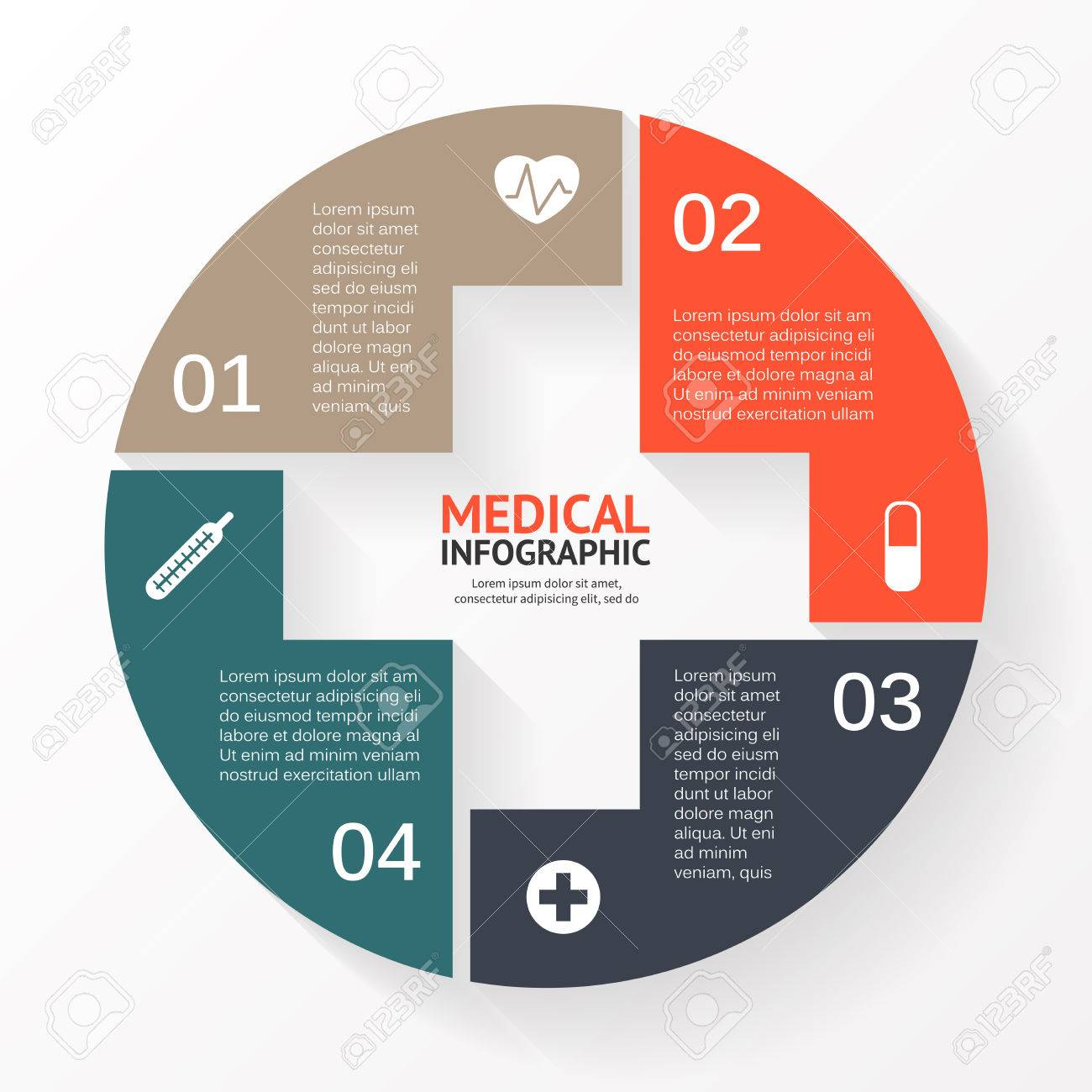 vector circle plus sign infographic template for diagram graph