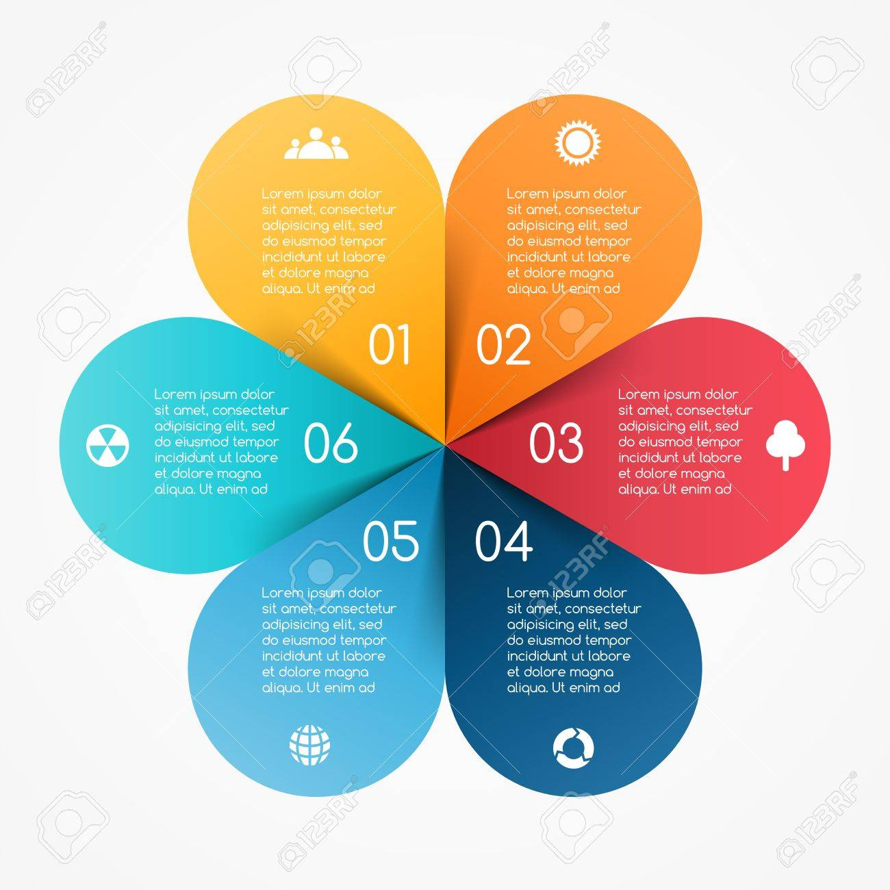 Vector circle color leaves infographic template for diagram vector circle color leaves infographic template for diagram graph presentation and chart pooptronica