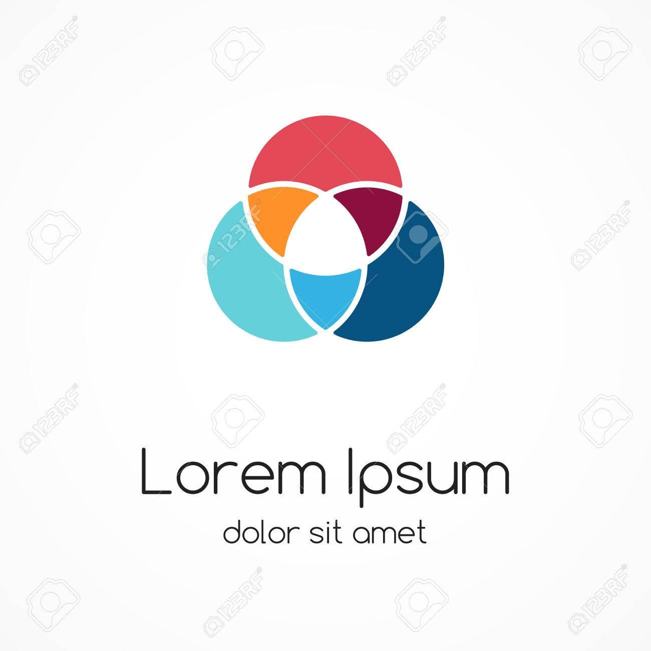 Logo template. Abstract circle creative sign. - 35691171