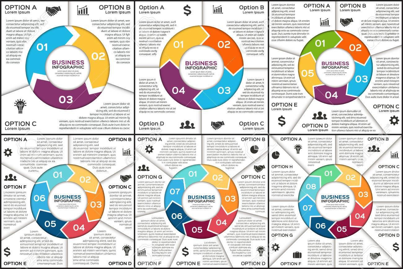 Vector Kreis Infografik. Vorlage Für Zyklusdiagramm, Grafik ...